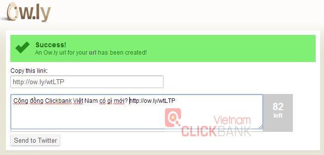 Rút gọn link cho Clickbank