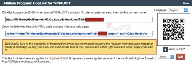 Clickbank Hoplink