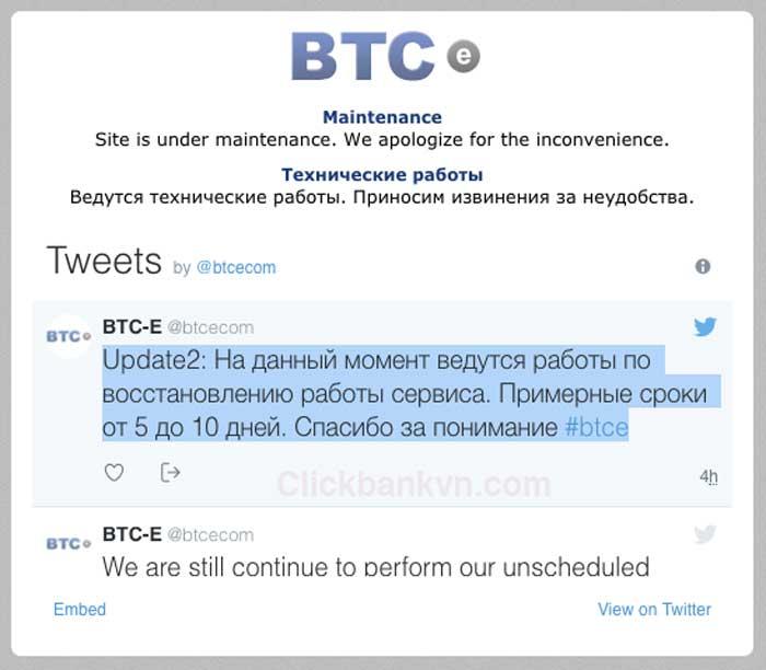 btc-e không truy cập được, btc-e.com, btce twitter