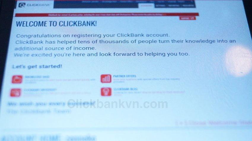 Đăng ký tài khoản Clickbank