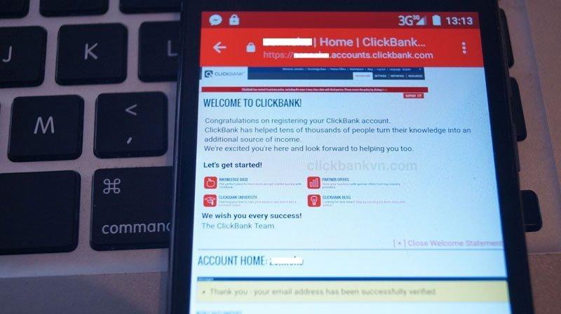 Đăng ký clickbank, đăng ký tài khoản clickbank không được, cách đăng ký tài khoản clickbank thành công