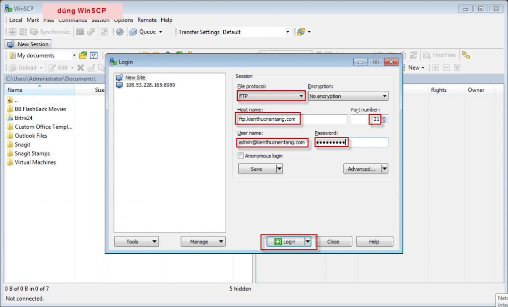 cách tạo tài khoản ftp hosting cpanel, hosting cpanel, tài khoản ftp, ftp account